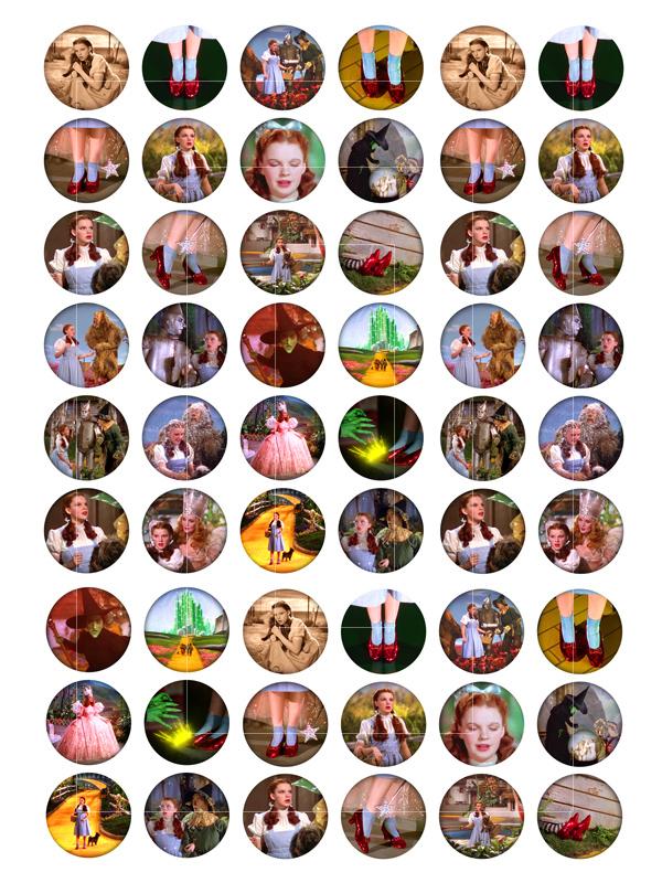 Wizard Of Oz Circle Images Digital Collage Sheet Bottlecap4u