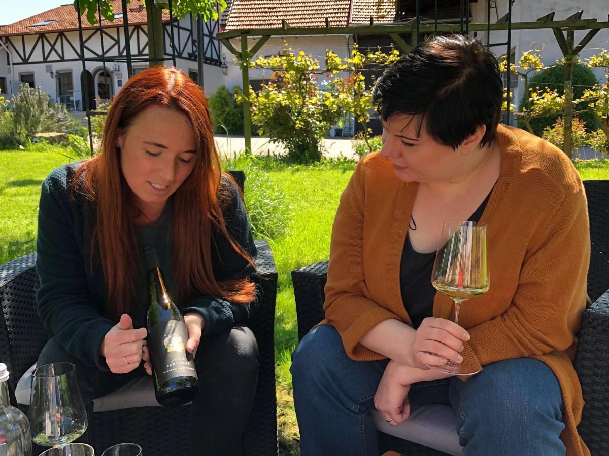 Zu Besuch bei Jungwinzerin Julia Schittler in Zornheim