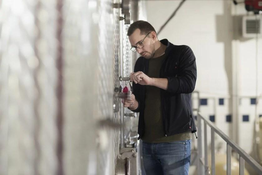 Edelstahltanks vom Weingut Familie Pitnauer im Carnuntum