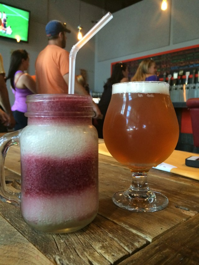 Barrels & Bottles - IPA and the amazing wine slushy!