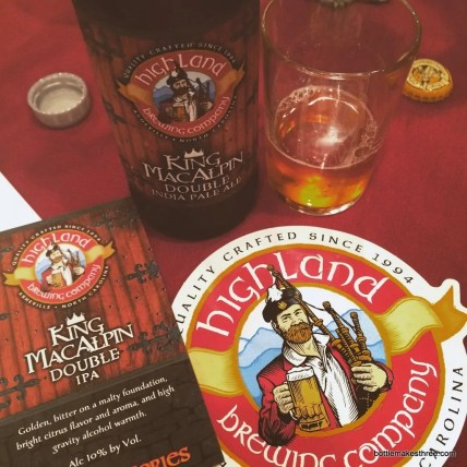 Highland Brewing Company's King MacAlpin Double IPA