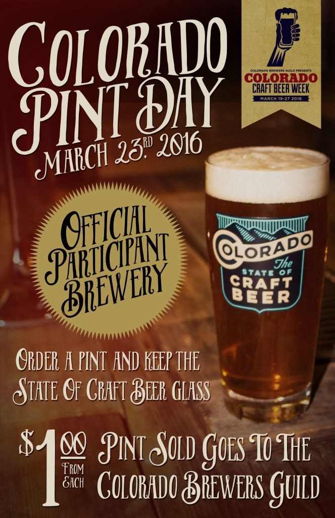 Colorado Pint Day 2016 and Colorado Craft Beer Week | BottleMakesThree.com