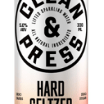 CLEAN & PRESS – MANGO AND WHITE PEACH HARD SELTZER
