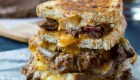 Brisket Grilled Cheese from Spicy Southern Kitchen   'Celebrate with 8' for Grilled Cheese Sandwich Day   Bottom Left of the Mitten