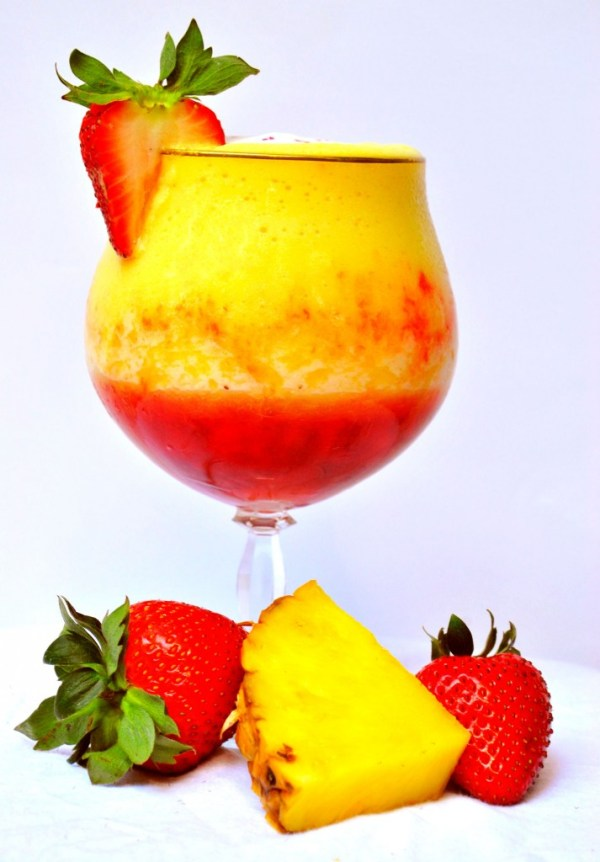 Pineapple Upside Down Cake Daiquiri from Slim Pickin's Kitchen