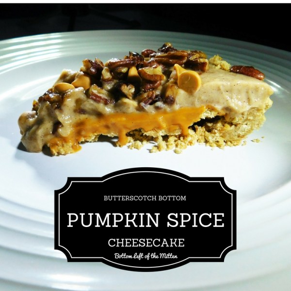 Butterscotch Bottom Pumpkin Spice Cheesecake from Bottom Left of the Mitten