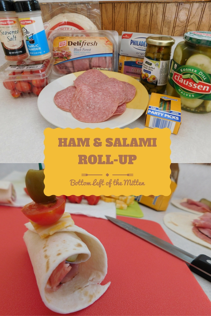 Ham & Cheese Salami Rollups from Bottom Left of the Mitten
