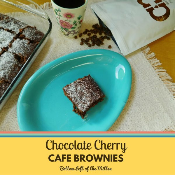 Chocolate Cherry Cafe Brownies from Bottom left of the Mitten