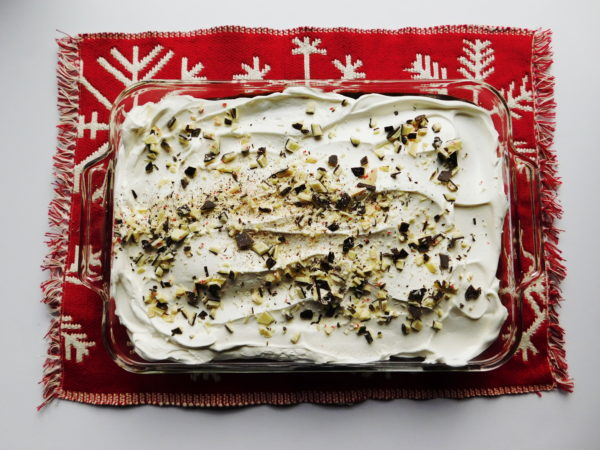 Peppermint Mocha Poke Cake | Bottom Left of the Mitten