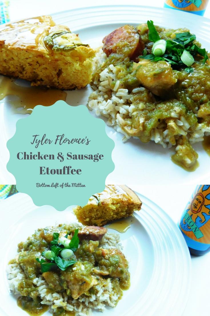 Tyler Florence's Chicken & Sausage Etouffee | Bottom Left of the Mitten #etouffee #chickenandsausage #chicken