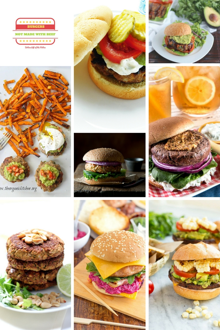 Think burgers can only be made with beef? False-Think turkey, chicken, beans and even vegetables. Sink your teeth and Celebrate with 8 Burgers that aren't made with beef. #burgers