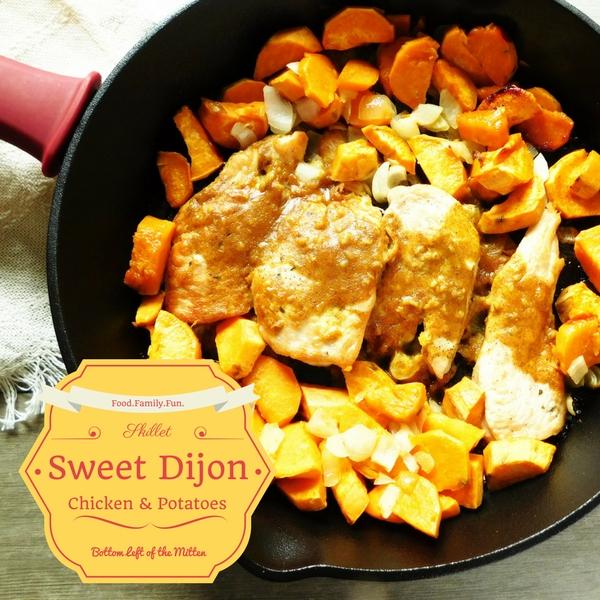 Skillet Sweet Dijon Chicken & Potatoes   Bottom Left of the Mitten