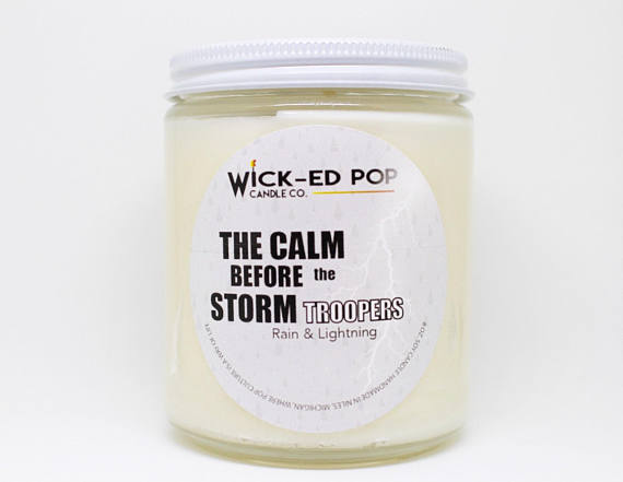 The Calm Before the Stormtroopers - Star Wars Inspired Candle from WickedPopCandleCo | Star Wars Gift Guide | Bottom Left of the Mitten