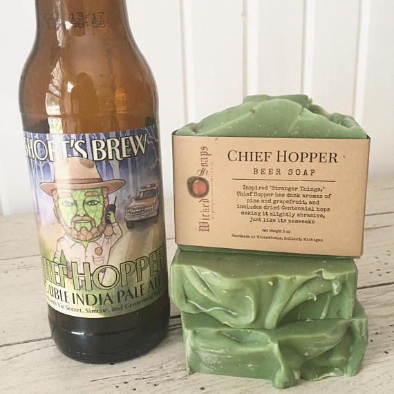 Chief Hopper Soap from Wicked Soaps | Craft Beer Lovers Gift Guide | Bottom Left of the Mitten