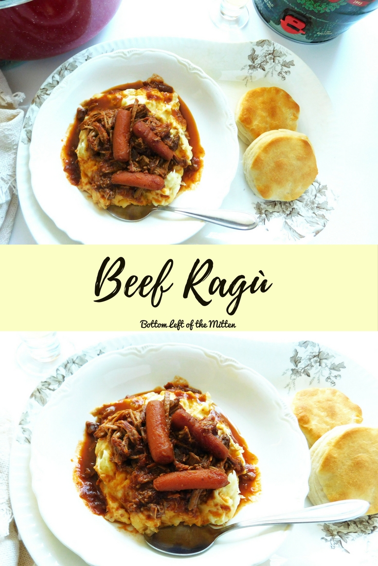 Beef Ragu | Bottom Left of the Mitten #beef #roastbeefrecipe #foodandbeerpairing