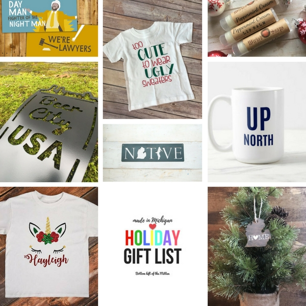 Made in Michigan Holiday Gift List | Bottom Left of the Mitten