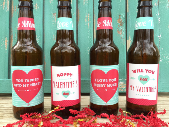 Valentines Beer Labels from PaprikaPaperie | Valentine's Day Gift Guide | Bottom Left of the Mitten