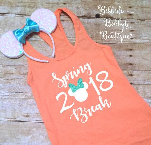 2018 Spring Break Disney Shirt from Bibbidi Bobbidi Boutique | Spring Break Must Haves | Bottom Left of the Mitten