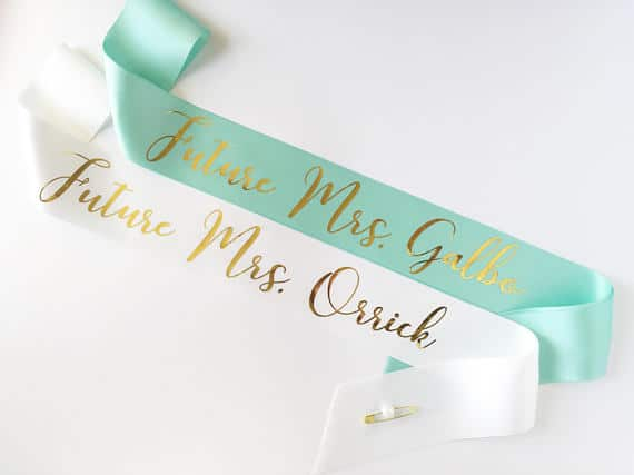 custom sashes from VeiliaDesignCo | 'Celebrate with 8' Bachelorette Party Fun | Bottom Left of the Mitten