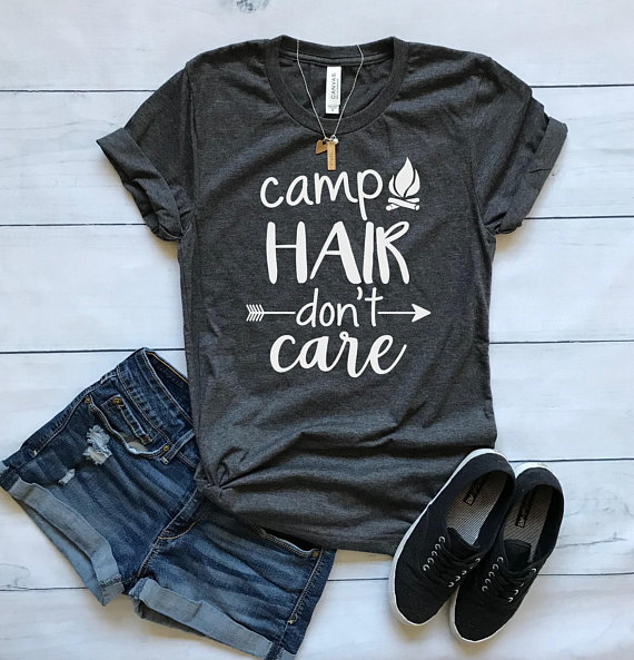 Camp Hair Don't Care shirt from MittenMommaCreations | 'Celebrate with 8' Camping Fun | Bottom Left of the Mitten