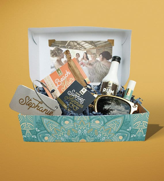Bridesmaid Box Proposal from MailboxMelodies | 'Celebrate with 8' Bachelorette Party Fun | Bottom Left of the Mitten