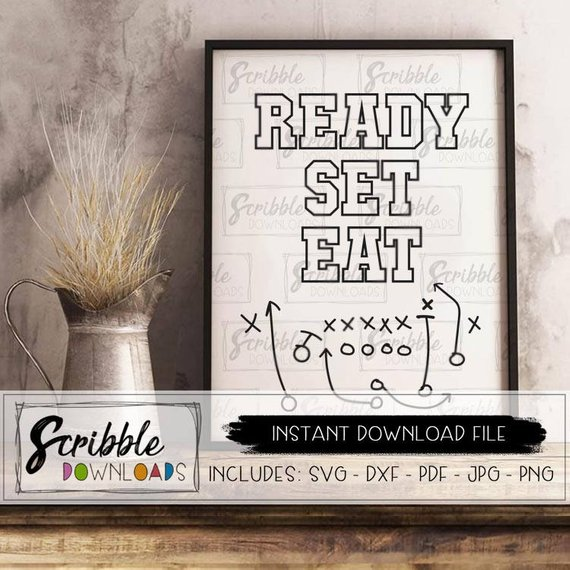 Instant Download Table party Decor from ScribbleDownloads | Celebrate with 8 for Game Day | Bottom Left of the Mitten