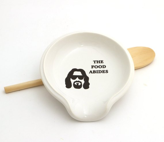 The Big Lebowski spoon rest from LennyMud | Foodie Gift Guide | Bottom Left of the Mitten