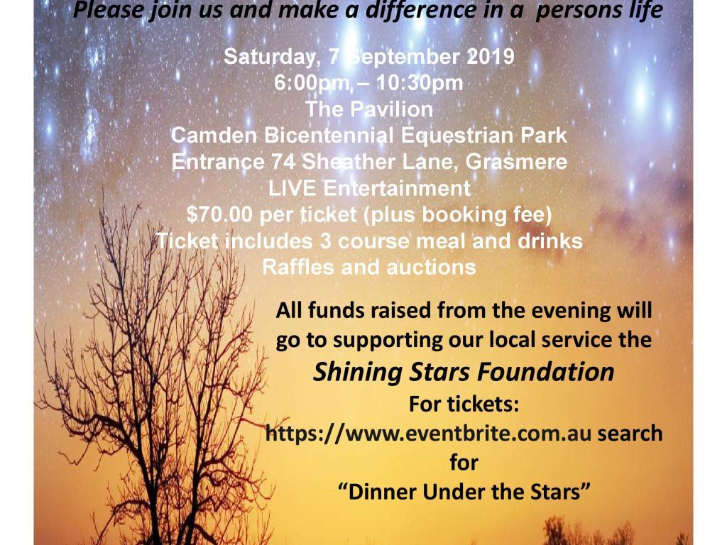 Dinner Under The Stars 2019