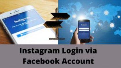 Instagram Login via Facebook Account