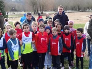 Presque toute l'équipe de l'école d'athlétisme avec Antoine et Olivier