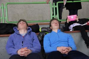 L'heure de la sieste pour Paulin et  Victor...