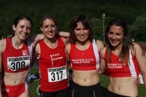 Les filles du relais 4*400m