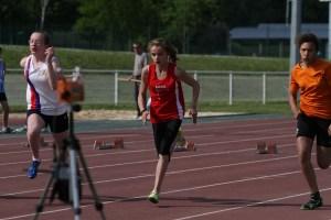 Clara en finale du 50m