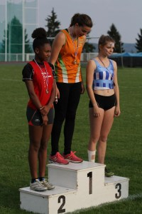 Podium du 200m haies