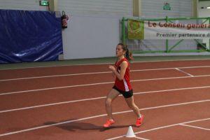Laura en route vers un beau chrono au 1500m