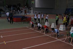 Hugo et Clément au départ du 50m