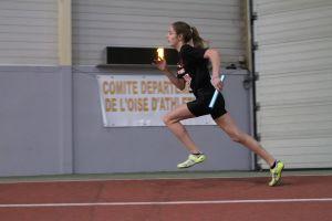 Clara au départ du 4*200m