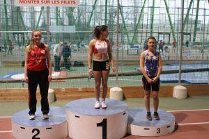Justine, vice-championne de l'Oise sur 50m haies