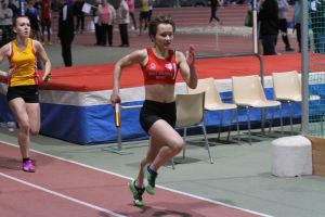 Ethel lors du 4*200m des pré-France