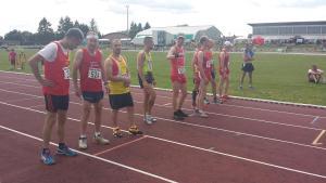 Le départ du 3000m avec Francis et Manu