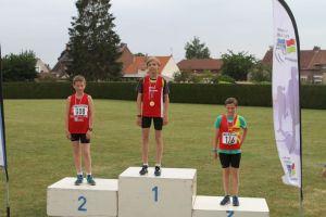 Lucas et Simon aux 2 premières place du 2000m marche