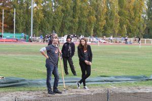 Marion et Christophe, juges au triple saut