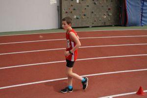 Simon lors de son 2000m marche