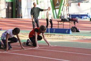 Sarah au départ du 50m