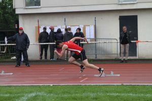 Tristan au départ du 4x400m