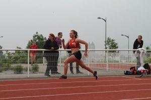 Justine bien partie sur 400m