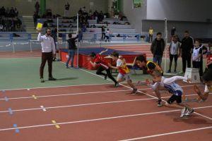 Clément au départ du 50m
