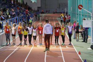 Elisa sur la ligne de départ du 1000m