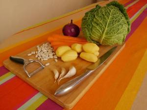 Potée au chou bouchées doubles : légumes 2