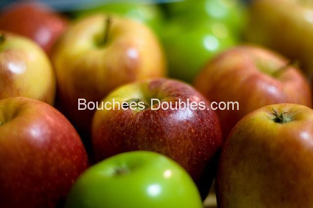 Pommes en gros plan